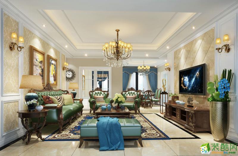 【隆诚装饰】现代美式风格 四居室 实景案例图