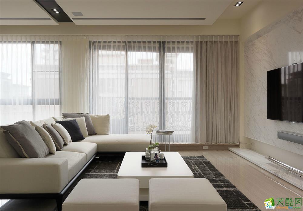 85平简美风格两居室装修效果图-10万全包-客厅5