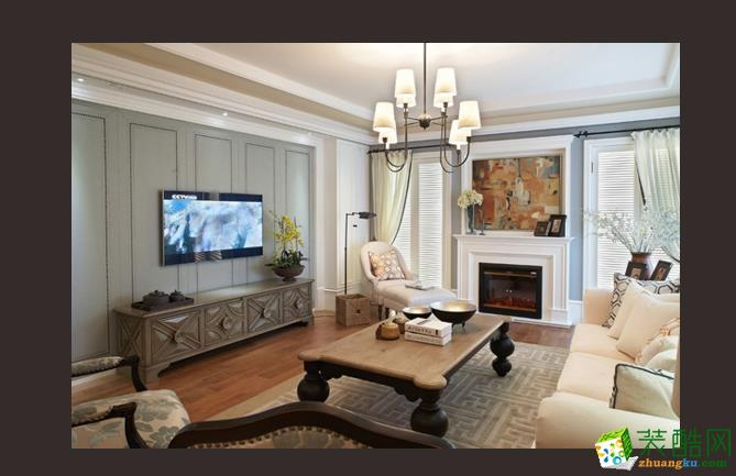 绿地玫瑰城三室现代美式