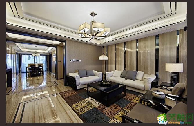 绿地悦城新中式三居室