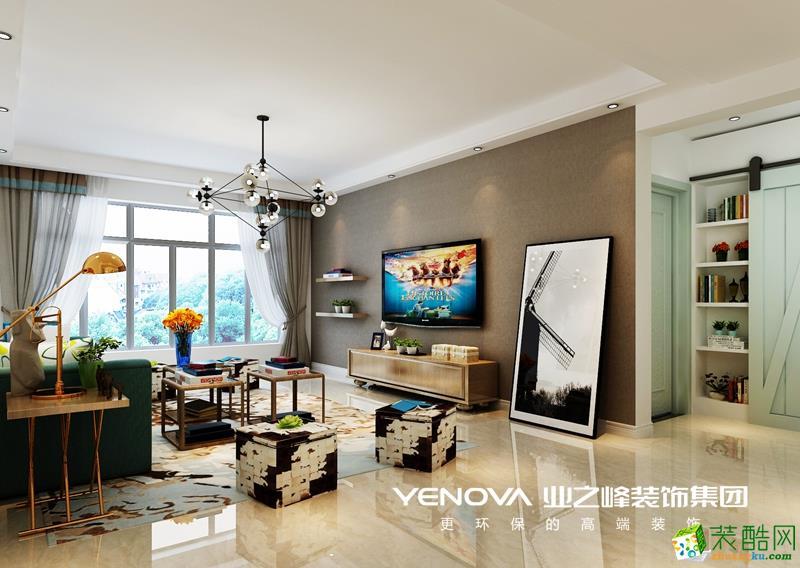 125平地中海风格三居室精美装修效果图