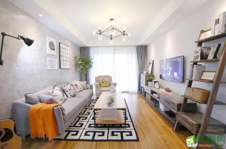 110�O三居室,色彩北欧的时尚宣言