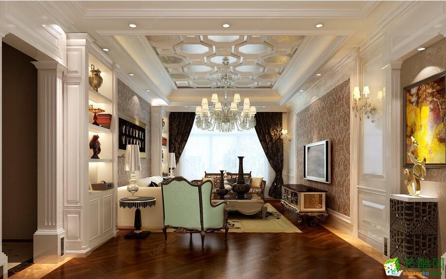 西安龙发装饰|保利拉菲公馆|200�O欧式三居