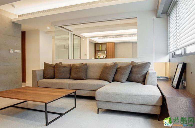 美颂雅庭装饰―113�O原木现代两居室-客厅2