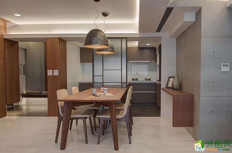 美颂雅庭装饰―113�O原木现代两居室-餐厅2