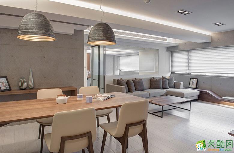 美颂雅庭装饰―113�O原木现代两居室-餐厅