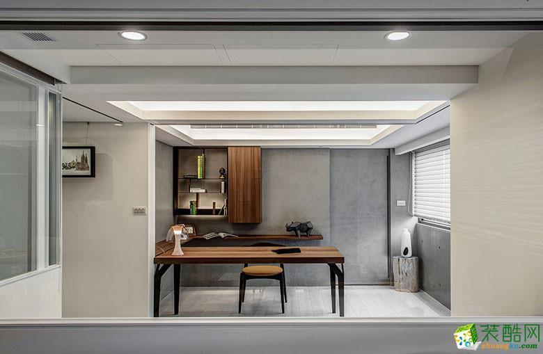 美颂雅庭装饰―113�O原木现代两居室-书房3