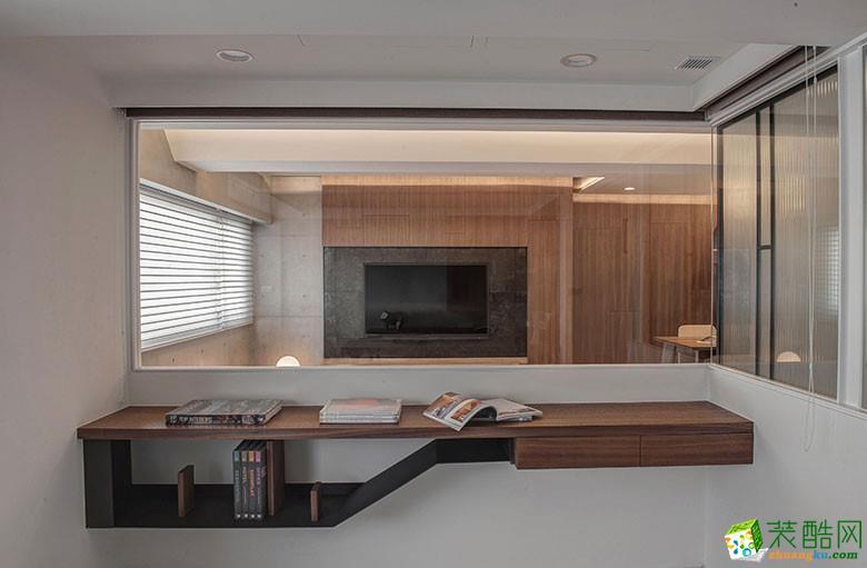 美颂雅庭装饰―113�O原木现代两居室-书房