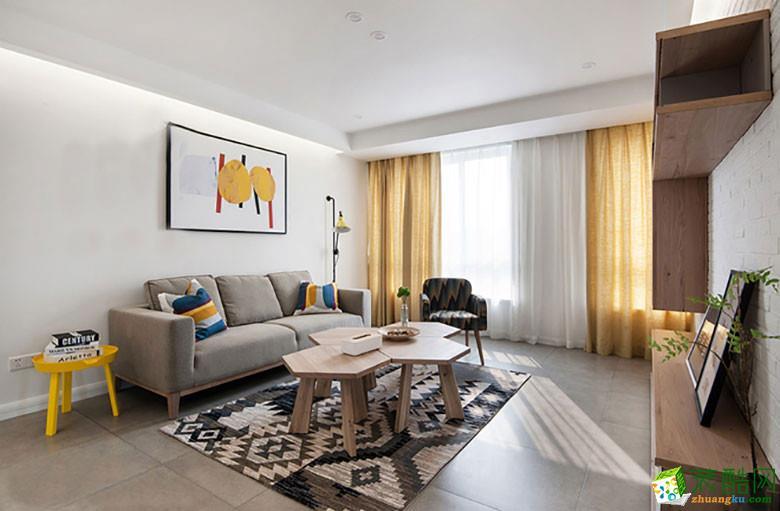 澳华装饰―保利拉菲80�O现代风格两居室