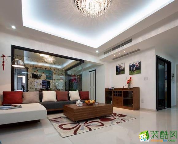 长沙水晶天装饰-现代简约三居室装修效果图