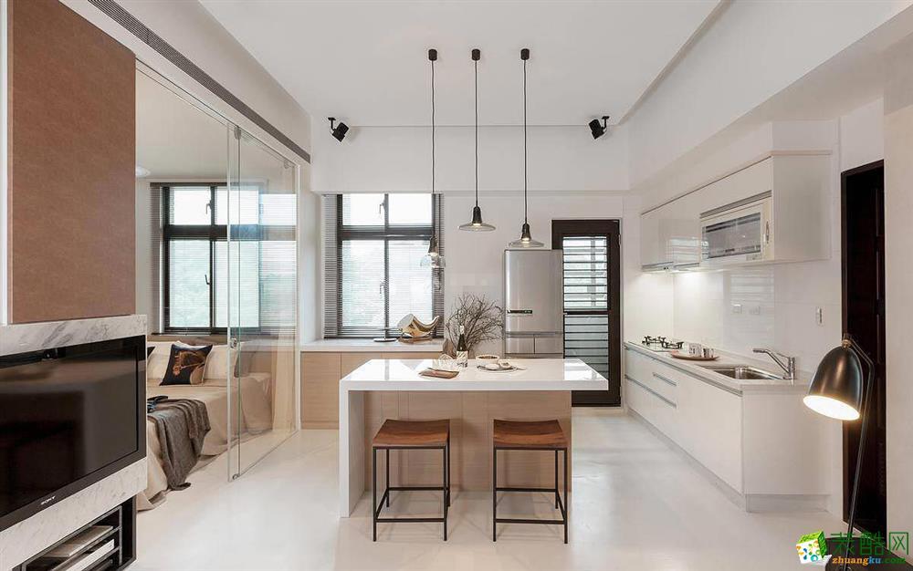 現代簡約單身公寓裝修效果圖