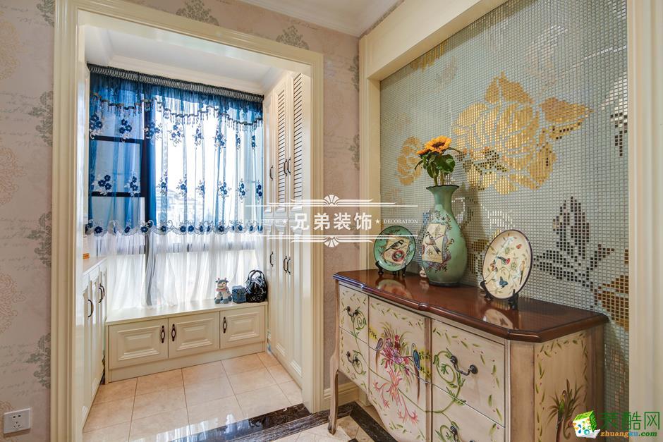 136平欧式风格三居室装修效果图-阳台