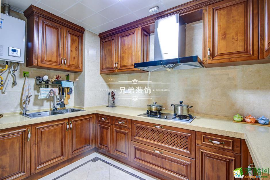 136平欧式风格三居室装修效果图-厨房