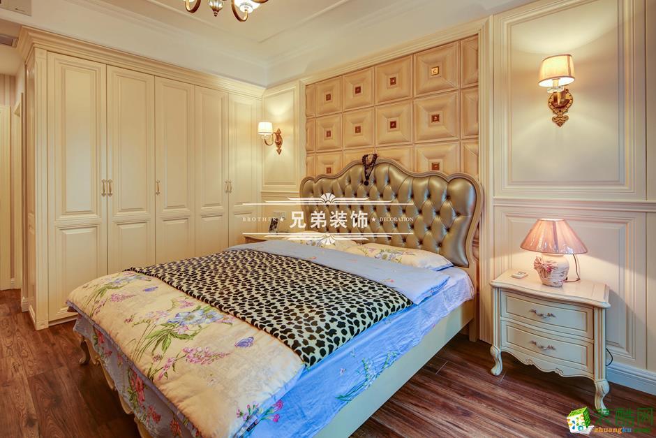 136平欧式风格三居室装修效果图-卧室