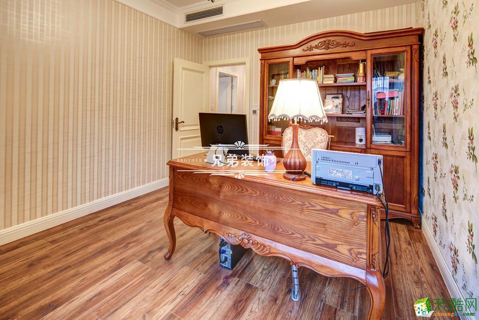 136平欧式风格三居室装修效果图-书房1