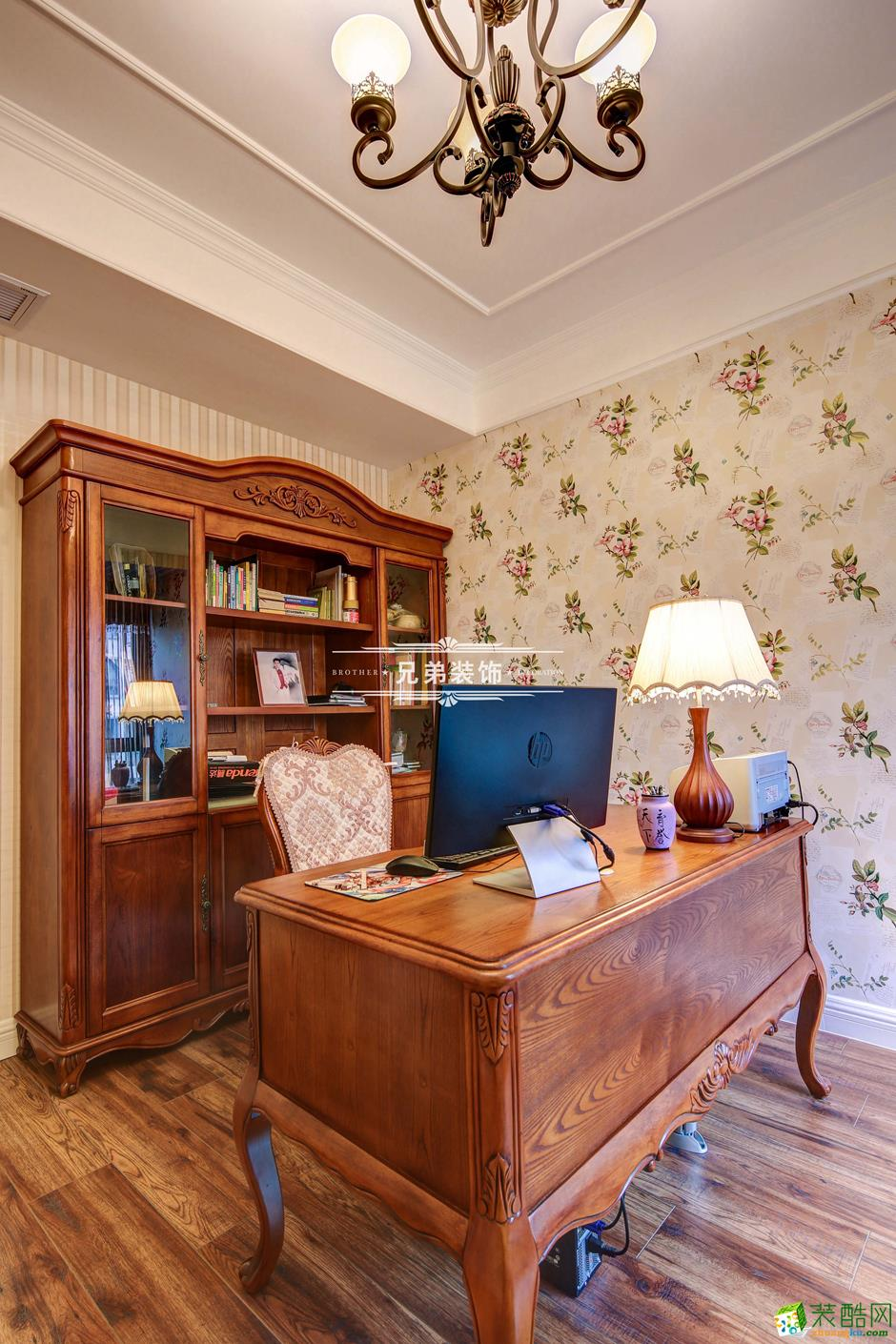 136平欧式风格三居室装修效果图-书房
