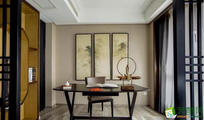沈阳三室140平现代中式风装修实景图