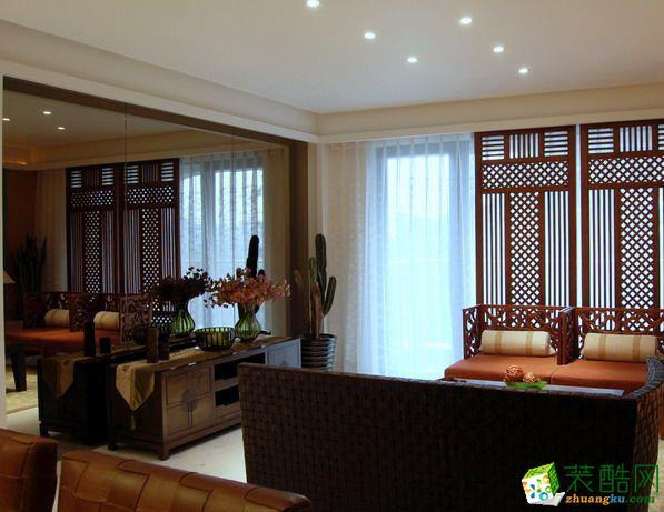 【金空间装饰】150平米新中式风格案例图