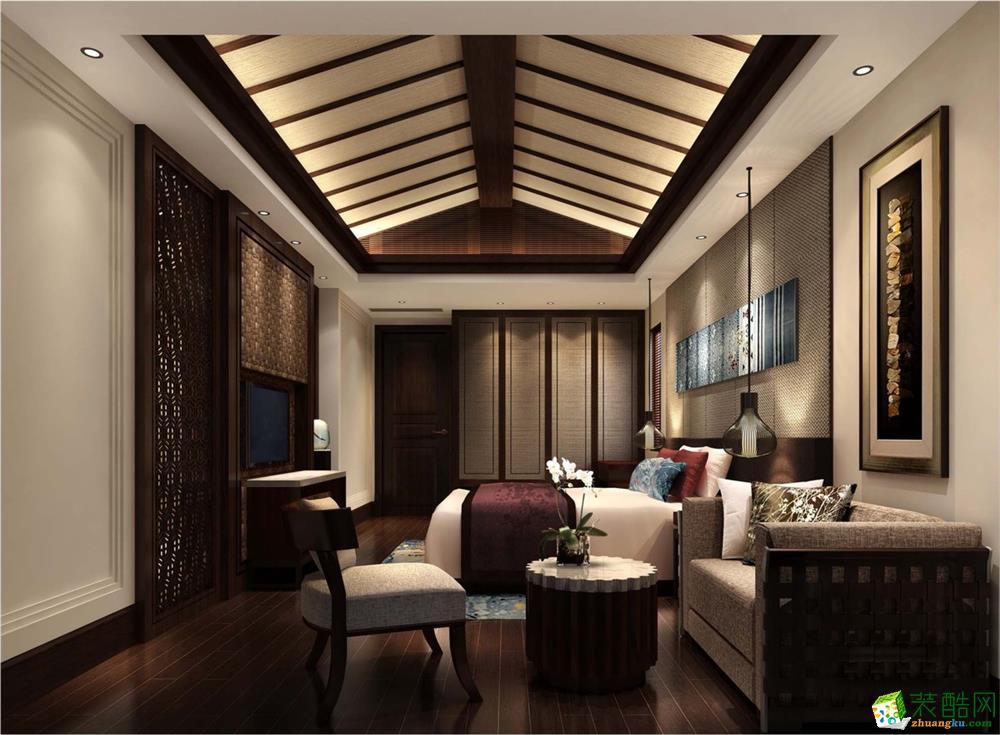 【金维装饰】中亿阳明山水 东南亚四居室装修案例图