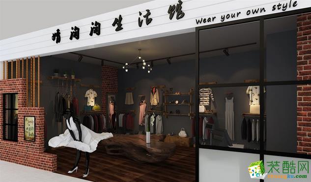 衡阳唐朝装饰-20平时尚服装店装修效果图