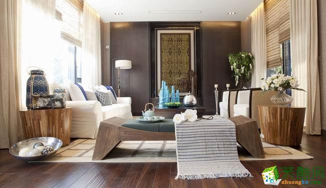 长沙鸿扬家装-现代三居室装修效果图