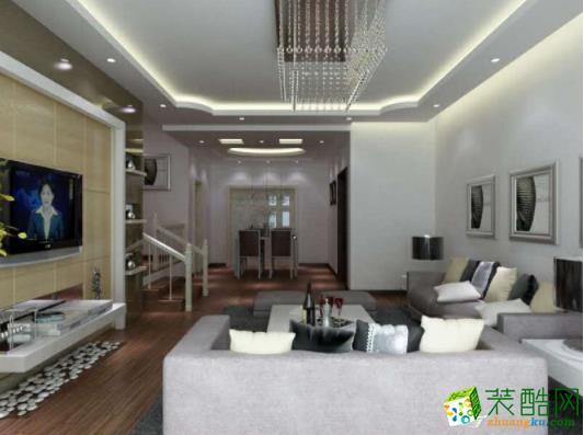 【毕节祥和空间】黔龙新城120平现代风格案例图