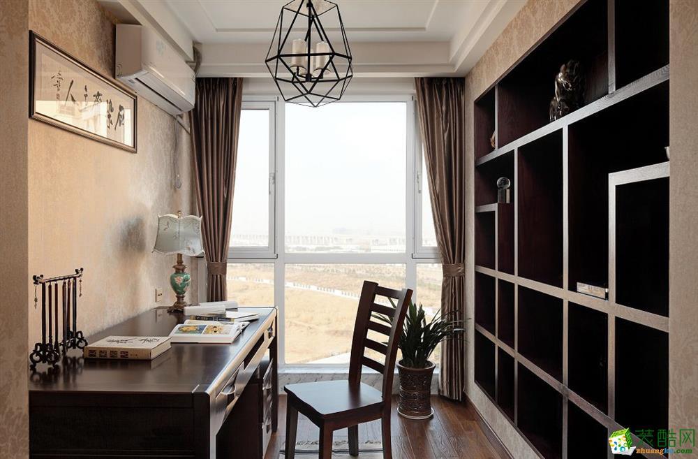 淘家装饰―120�O中式风格三室一厅案例