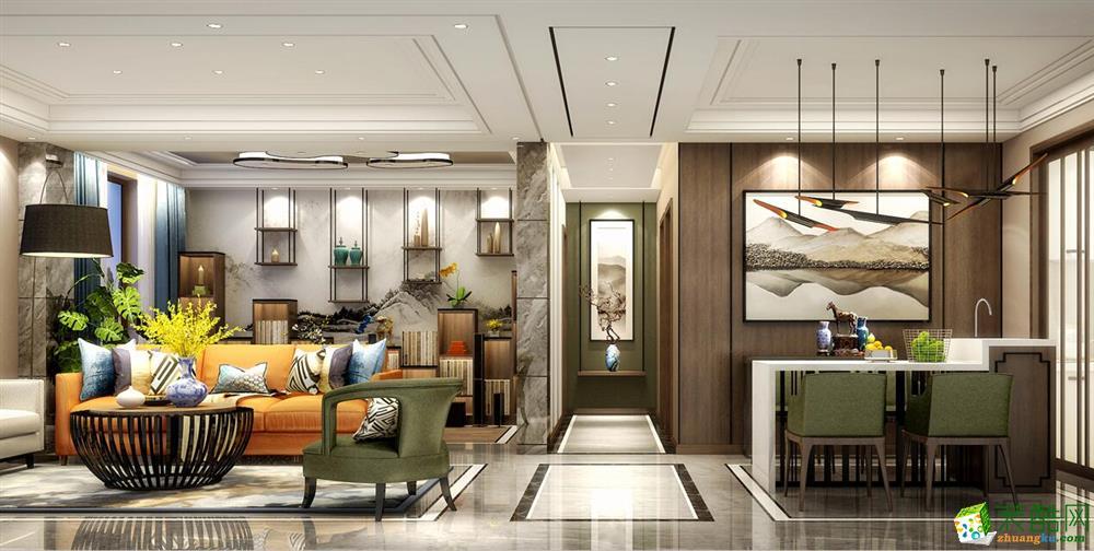 长沙御居装饰-新中式两居室装修效果图
