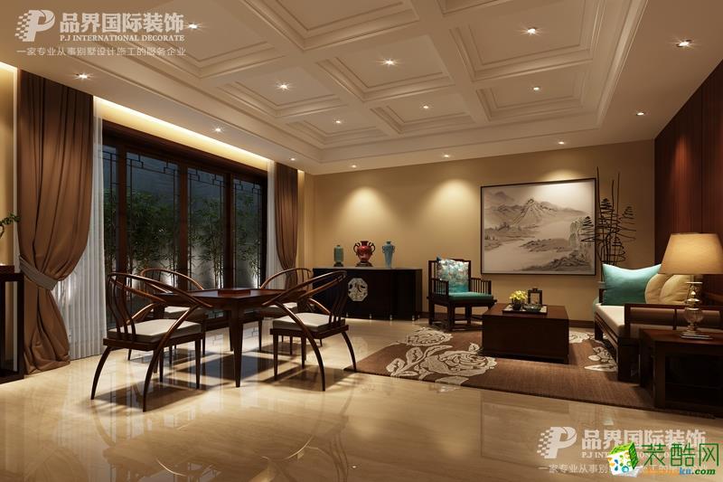重庆东原湖山樾中式风格装修