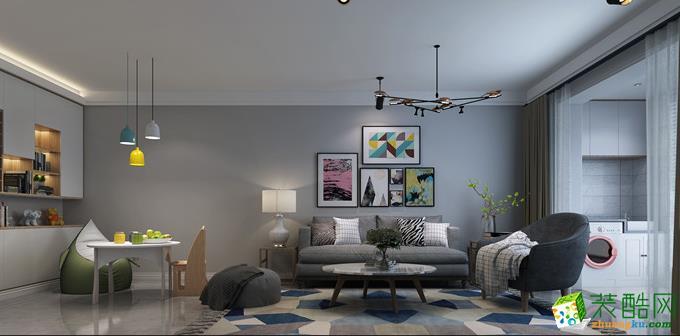 阳光城89平两居室简约风格效果图案例赏析 现代简约