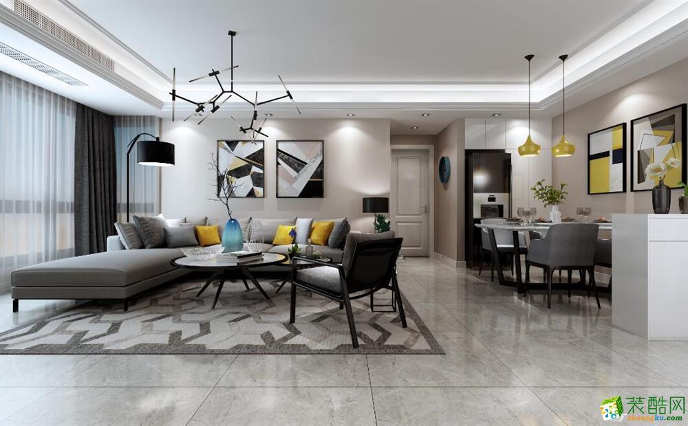 长沙欧地装饰-现代简约两居室装修效果图