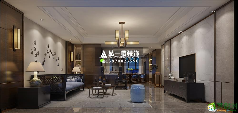 丛一楼装饰―联泰香域中央169平四房新中式
