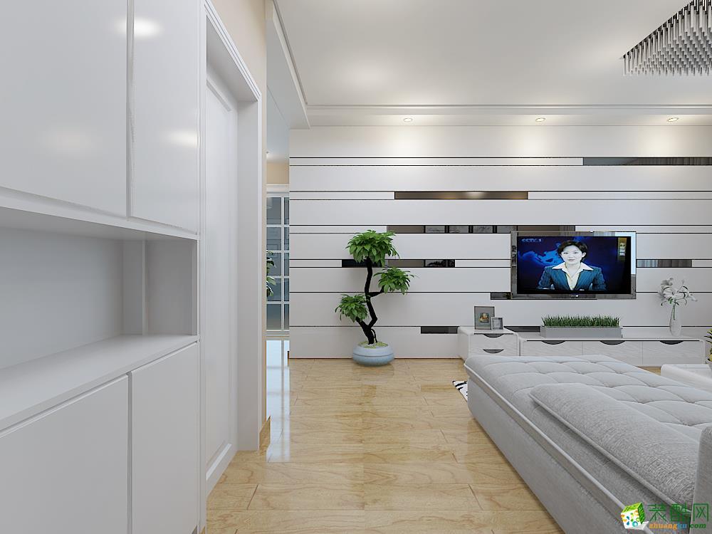 池州春秋装饰-现代简约两居室装修效果图
