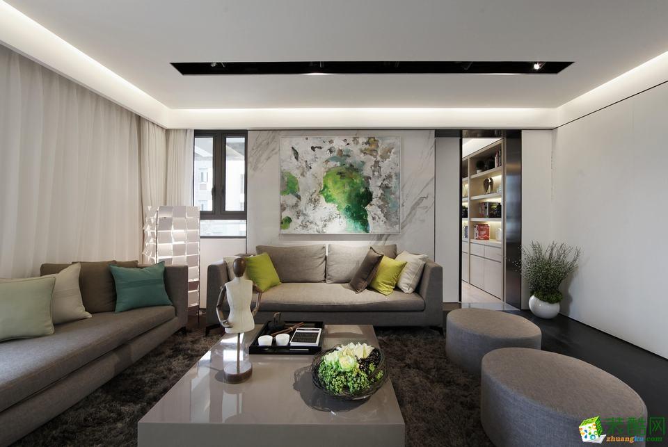 【东方建筑装饰】89平米现代风格案例图