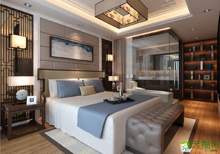 长沙宅速美装饰-新中式三居室装修效果图