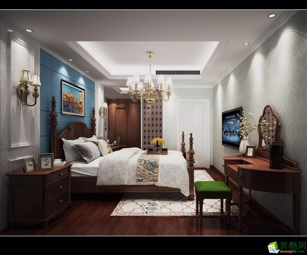 长沙宅速美装饰-美式两居室装修效果图