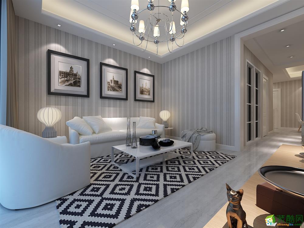 家饰佳装饰|地矿家园101平米现代装修风格