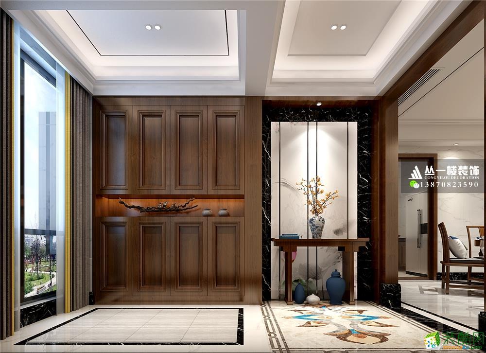 丛一楼装饰-青山湖东园150平四居室新中式风