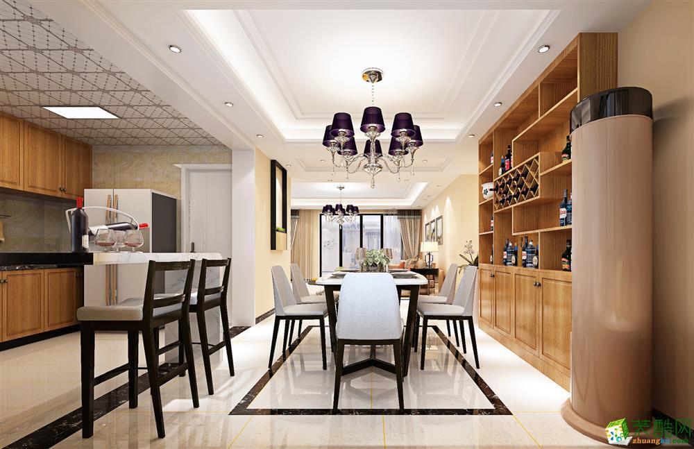 餐厅  120平现代简约三居室装修