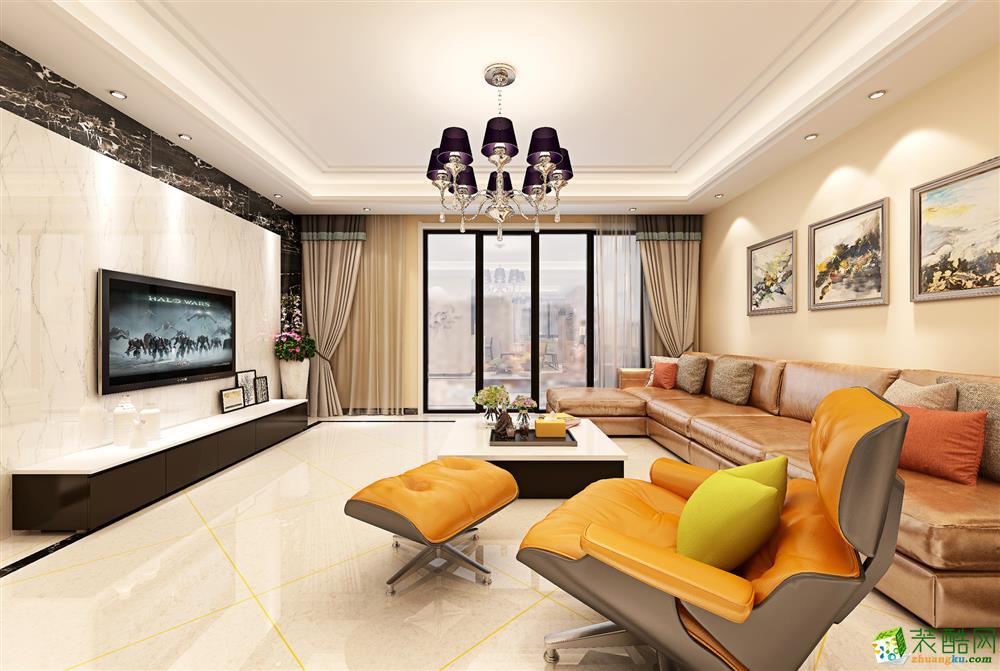 120平现代简约三居室装修