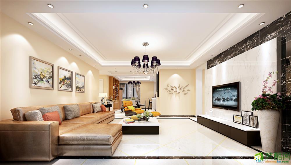 客厅  120平现代简约三居室装修