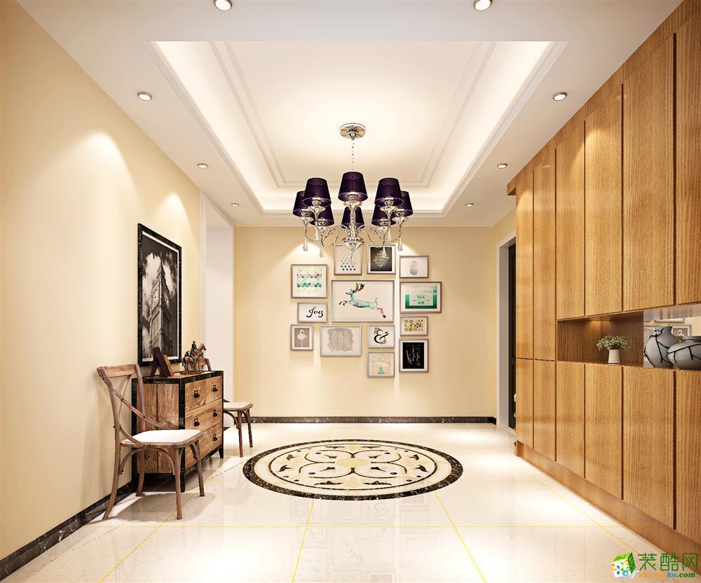入户花园  120平现代简约三居室装修