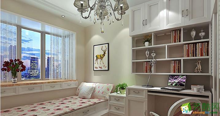 福州龙头装饰-美式三居室装修效果图