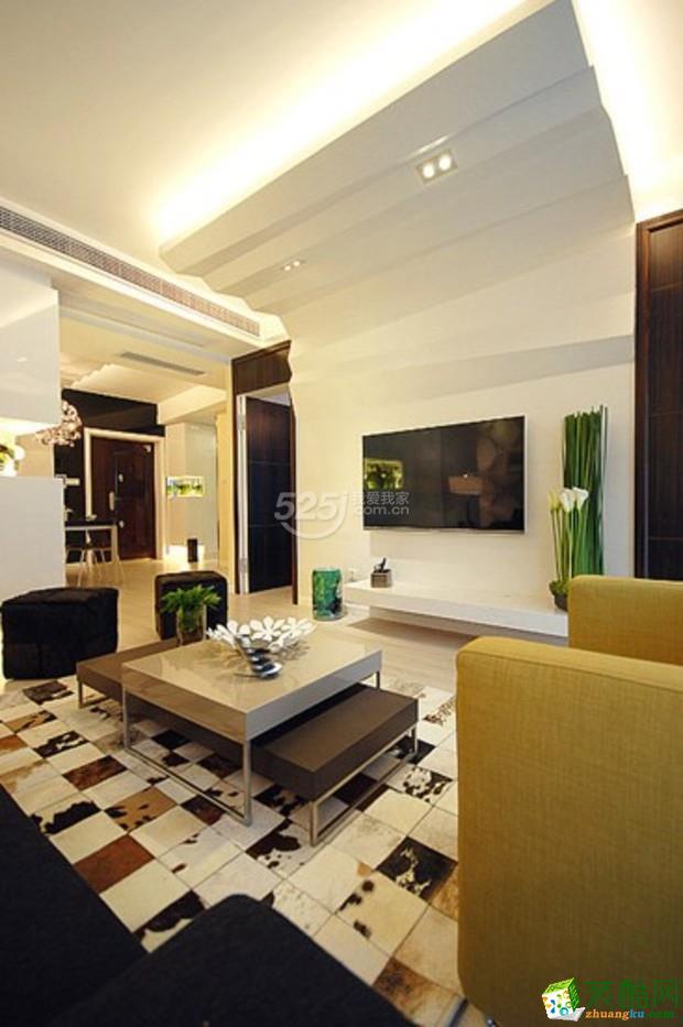长葛嘉禾装饰―绿色妆点家居 90平清新两居装修
