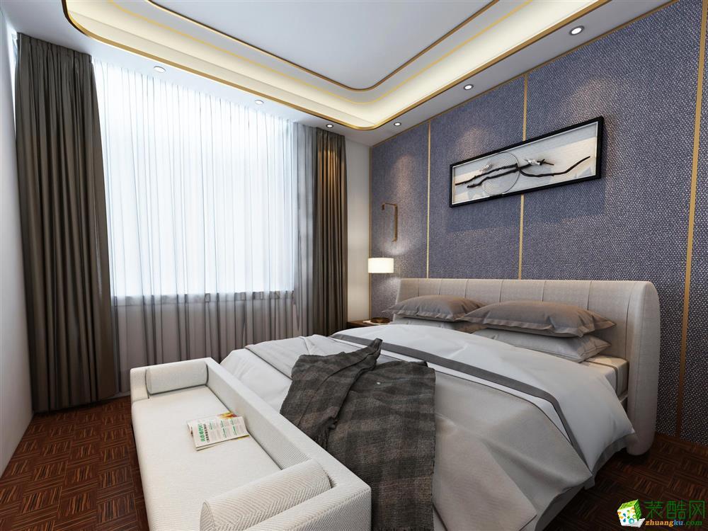 蓝天装饰―110�O现代风格三居室