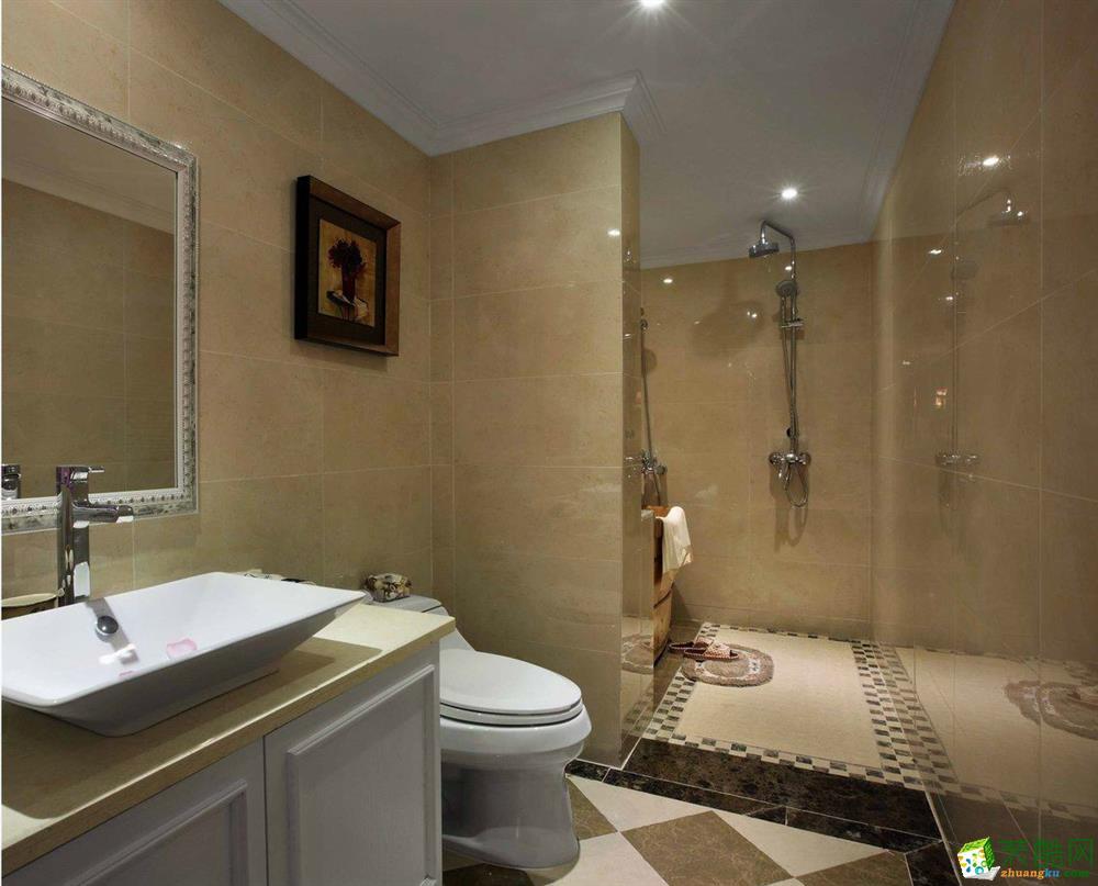 锦隆装饰―120�O现代美式风格三居室