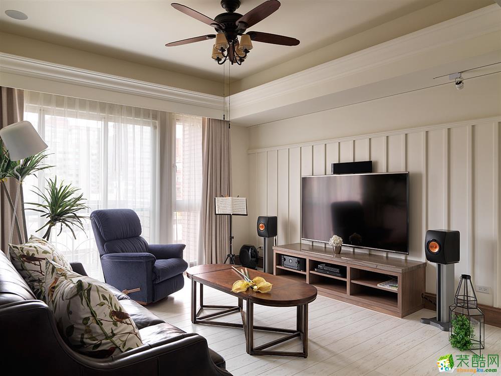 龙发装饰―85�O两室一厅现代风格装修