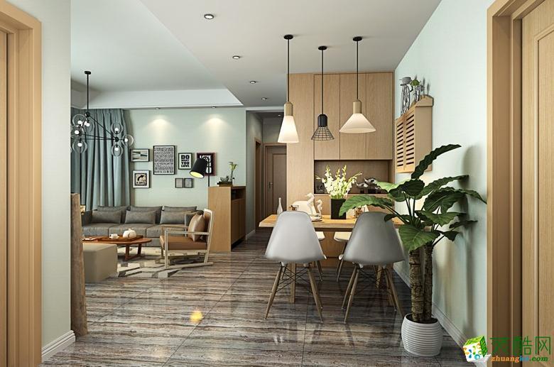 >> 宅居宅修装饰-95平清新自然风北欧装修效果图
