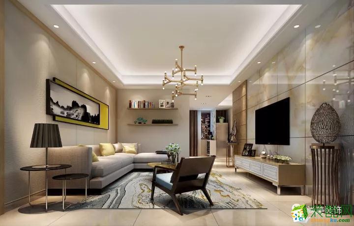 红谷新城100�O现代简约三居室