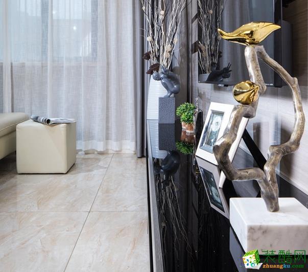 无锡锦华装饰-榭丽花园现代简约三居室装修效果图